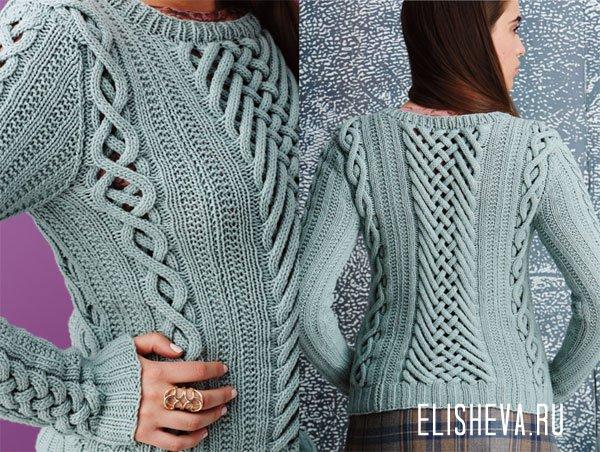 Видео мастер-класс по вязанию пуловера с переплетением (Vogue Knitting Fall 2014)