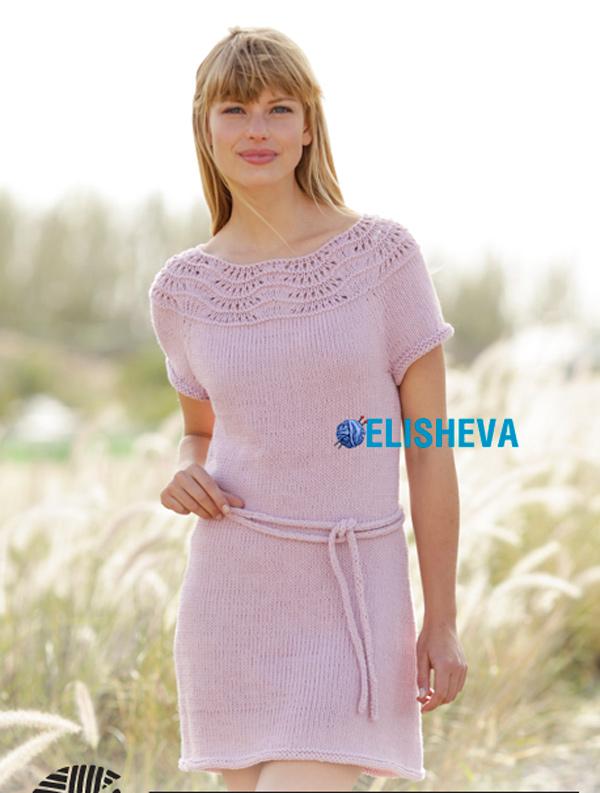 Летнее платье для женщин от DROPS Design: описание от S до XXXL