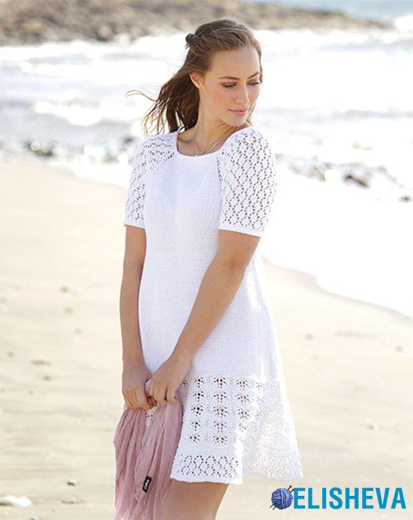"""Платье """"Подчеркни страсть и невинность"""" вязаное спицами от Drops Design"""