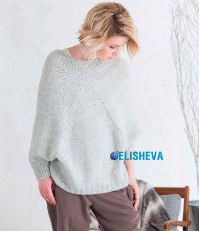 То ли свитер, то ли пончо спицами от дизайнера LanaJois