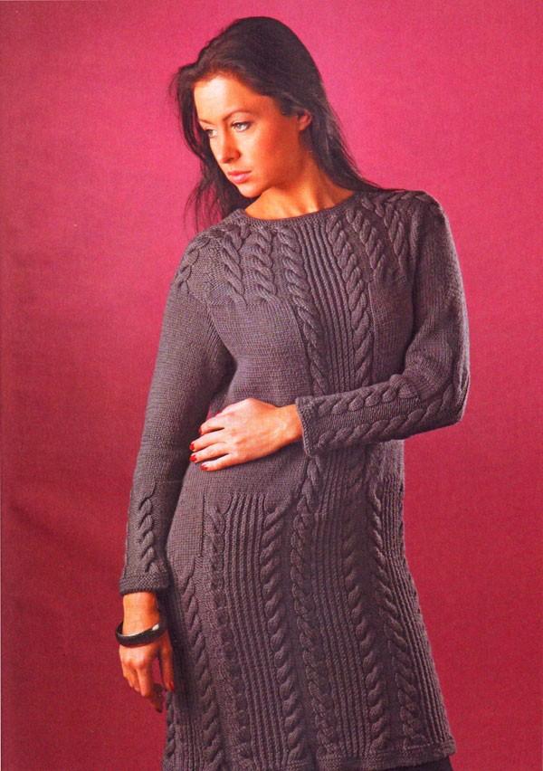 Вязание на спицах платье модели 124
