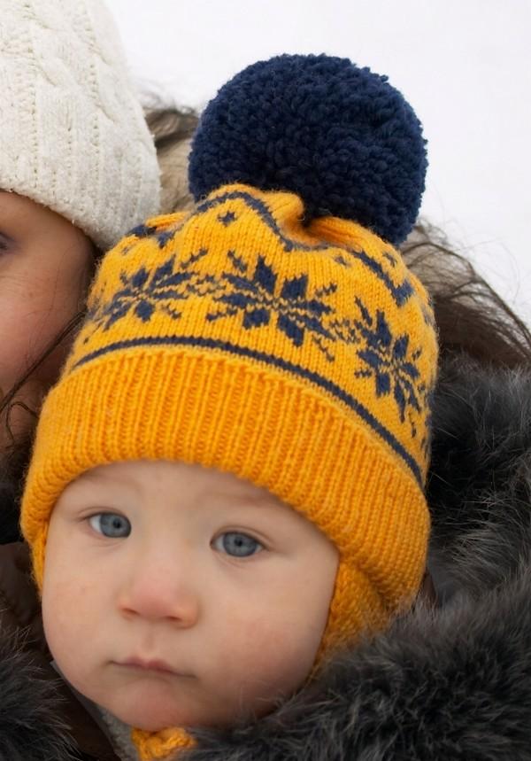 Детская шапочка с норвежским