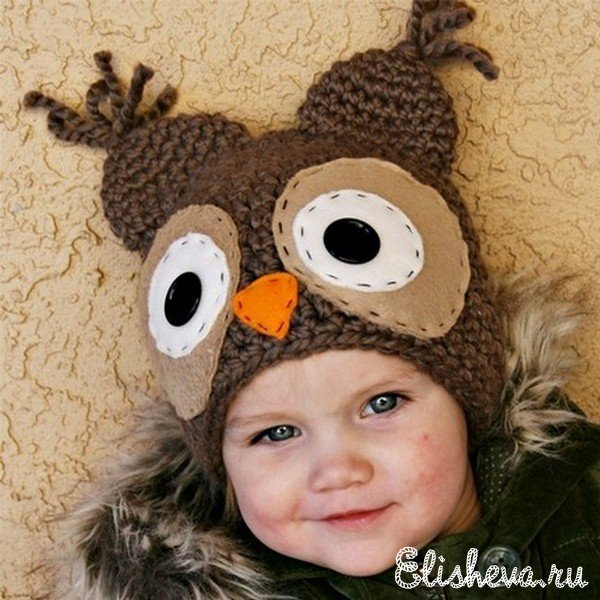 Интересные детские шапочки