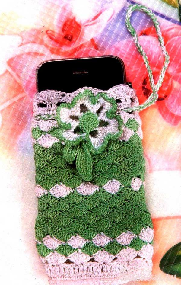 Чехол для мобильного телефона вязание крючком