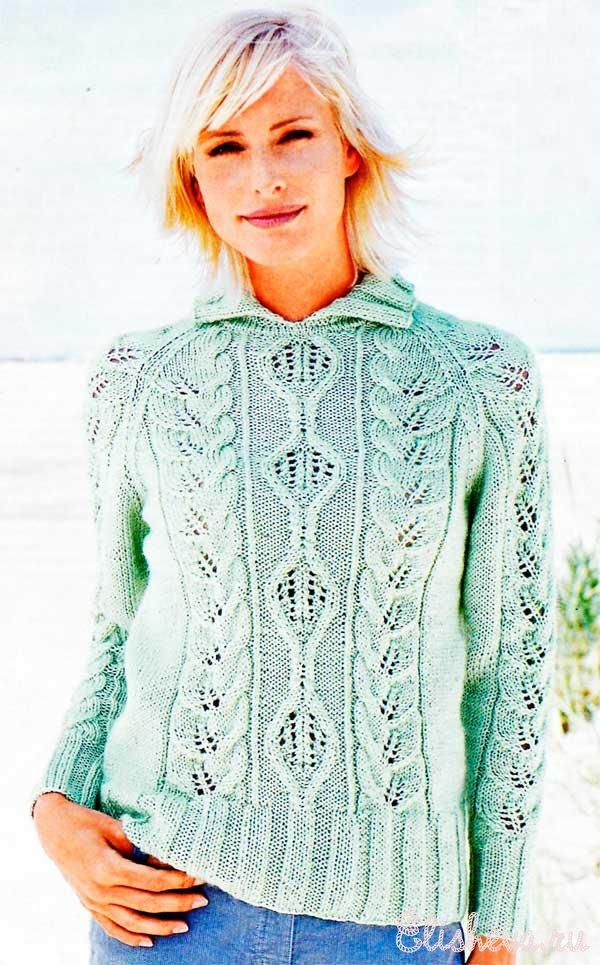 Вязание женского пуловера 85