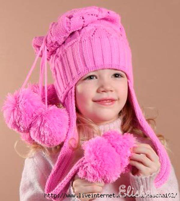 Вяжем спицами детские шапочки для девочек
