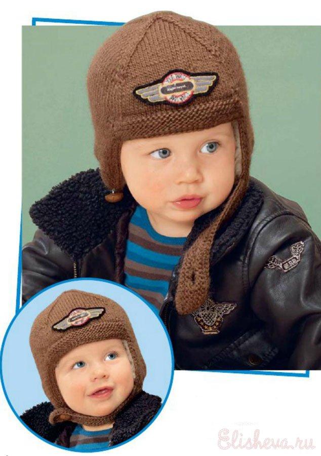 Детская шапочка-шлем на