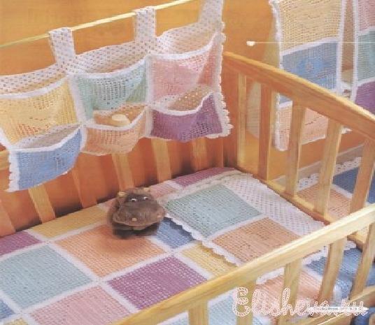 кроватки вязаные крючком