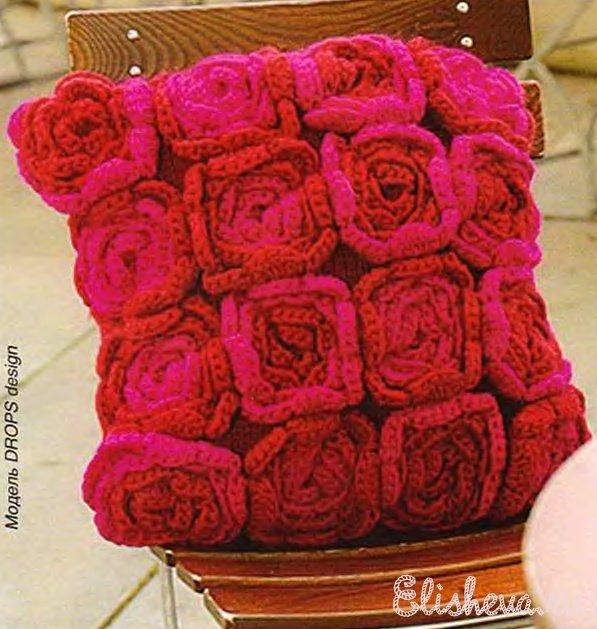 Чехол для подушки «букет роз»