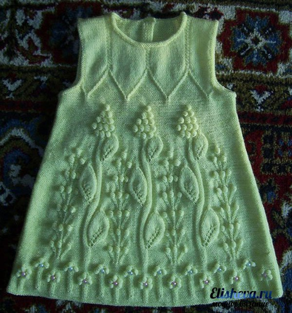 Детское платье с ажурным