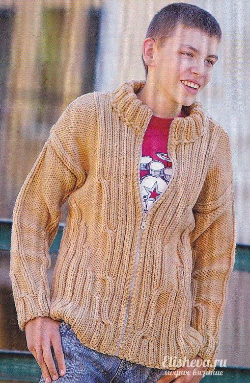 Пуловер для подростка вязание 8