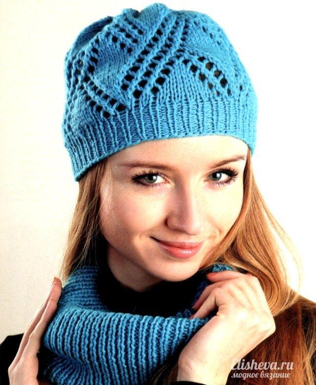 шарф-хомут спицами схема