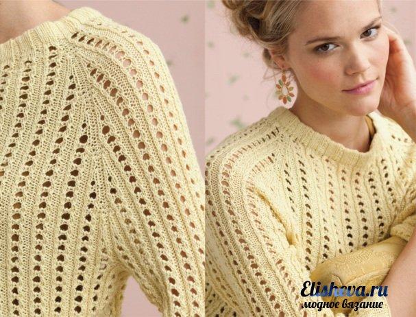 Модные вязаные свитера 2012-