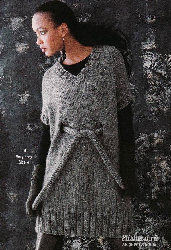 спицами · Платье-туника