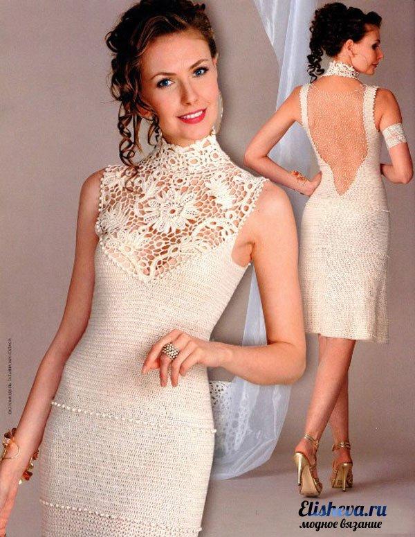 Свадебное платье вязаное