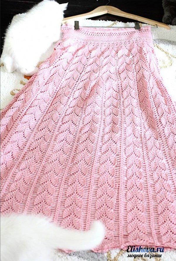 Одев такую вязаную юбку в