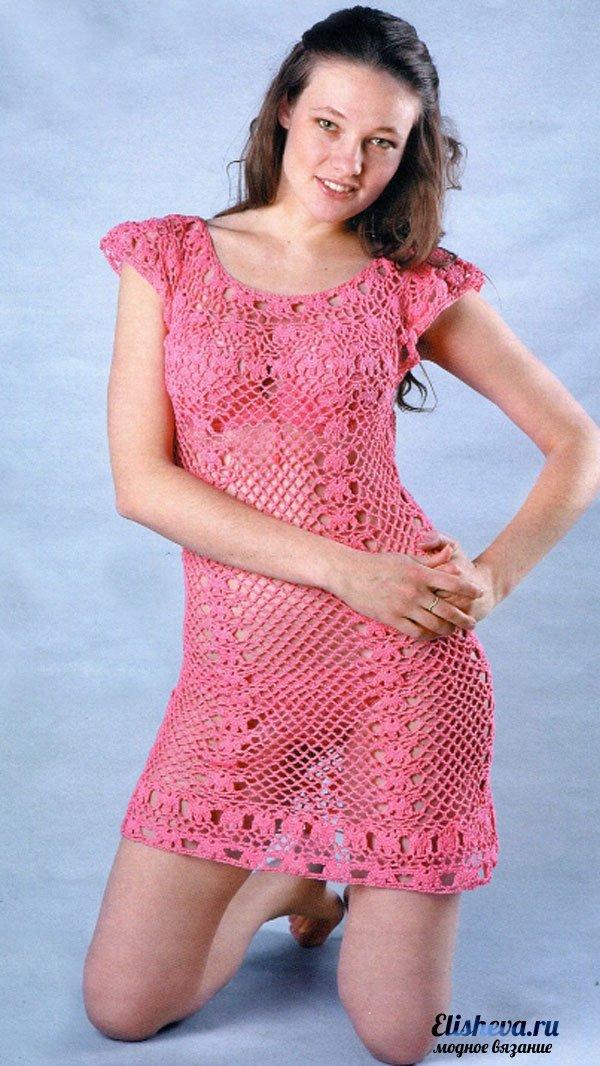 Платье и сарафан крючком или спицами - Результаты из #20