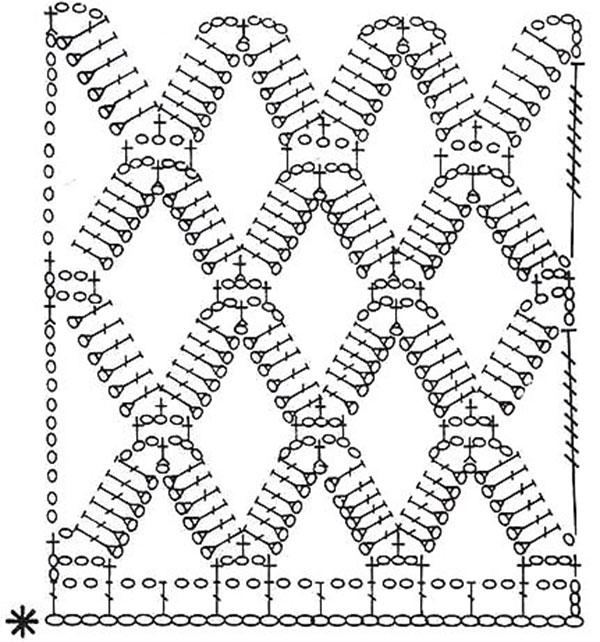 несложную схему вязания и