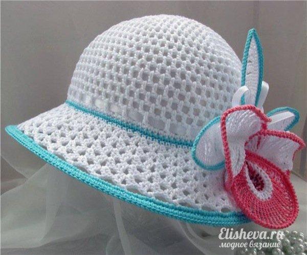 крючком летняя шляпка