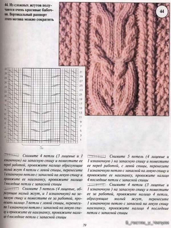 Вязание спицами узоры косы с описанием и моделей