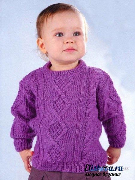 Вязание для детей Вязание спицами. схема вязания комбинезона для новорожденного спицами