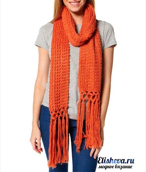 Модный вязаный шарф 2014 - Всё о шарфах здесь