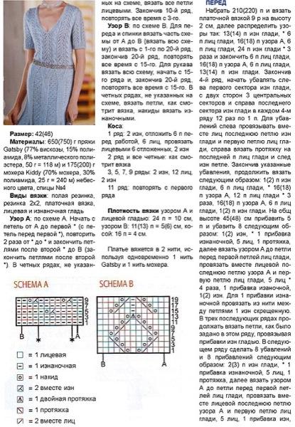подробные схемы вязания и