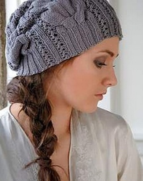 Стильная шапочка-берет с