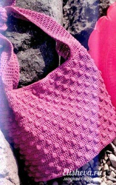 23 июл 2014 Наша сумка проста в исполнении и очень интересно смотрится. фото пляжной вязаной сумочки крючком