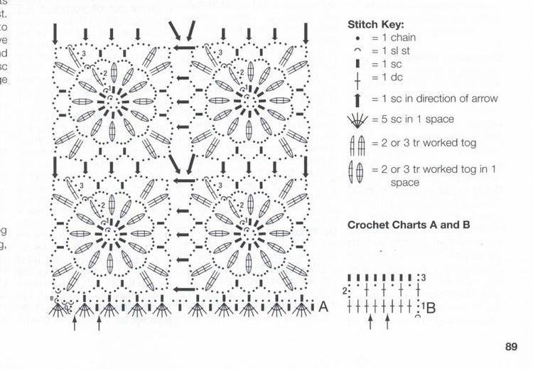 Схемы безотрывного вязания крючком летних кофточек для женщин 90