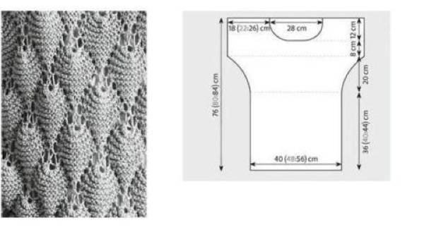Вязание на спицах узоры для туник 483