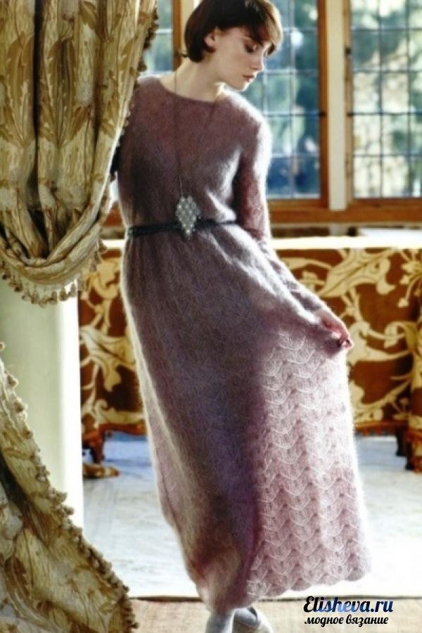 Это длинное ажурное платье
