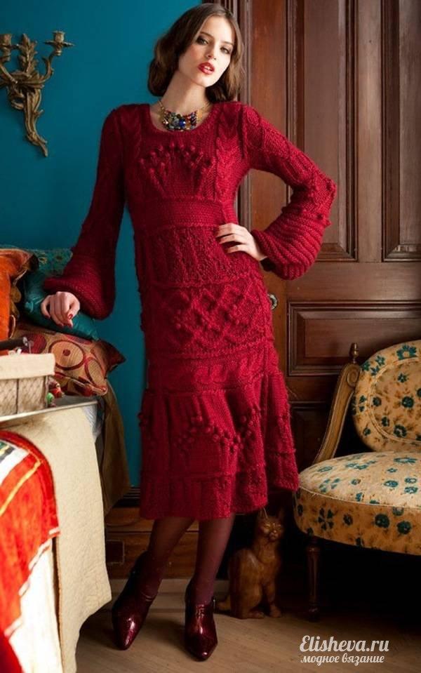 Красное эпатажное платье