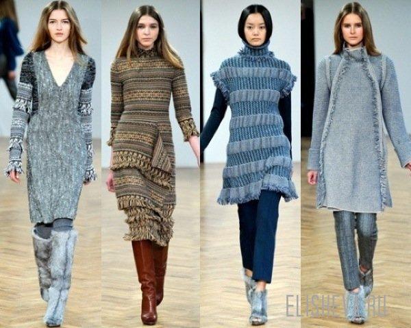 3f13b7d3596 Модные вязаные платья осенне-зимнего сезона 2014
