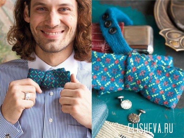 вязаный галстук, из которого