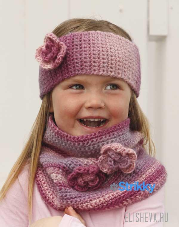 Повязка и шарф-снуд с