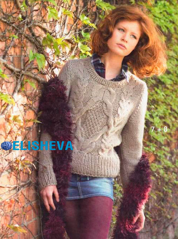 Вязание спицами стильные свитера 78