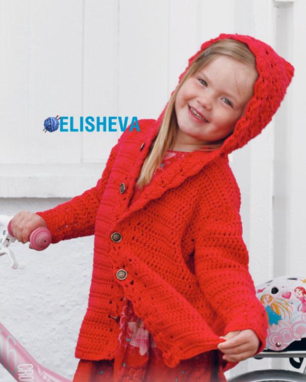 Ажурное пальто для девочки с