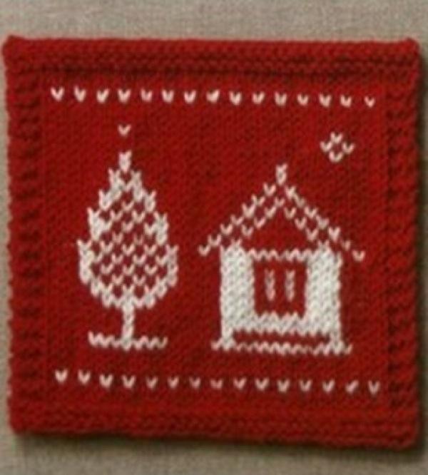 Узоры для вязания спицами с новогодней тематикой