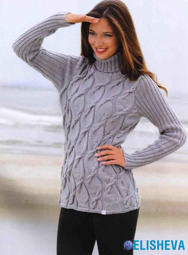 Женский свитер спицами со схемами 2015 2016 фото 810