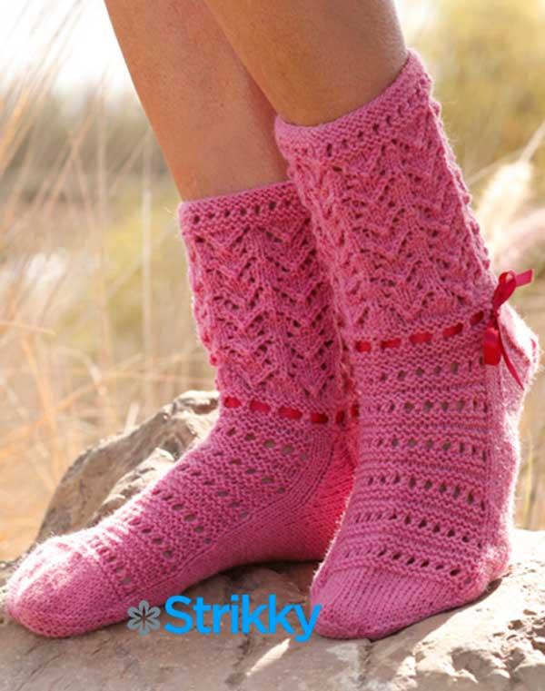 Ажурные носки «Сапожки» от