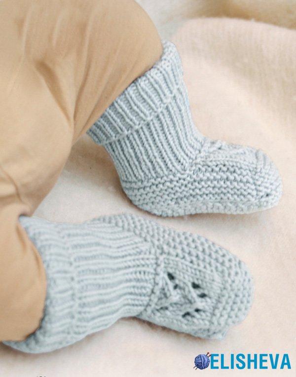 Высокие носки с ажурной