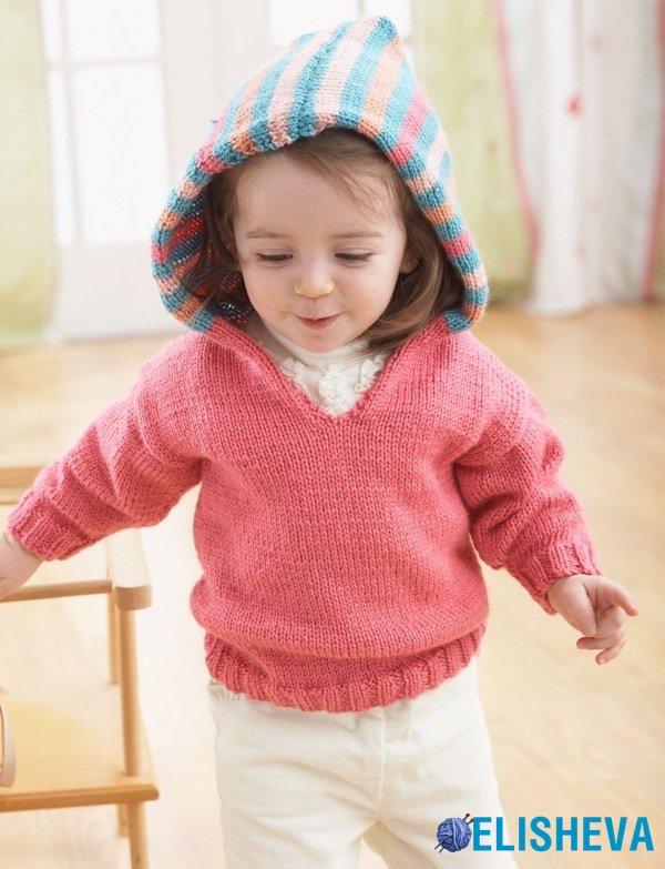 яркая кофта с полосатым капюшоном для малышей радужное настроение