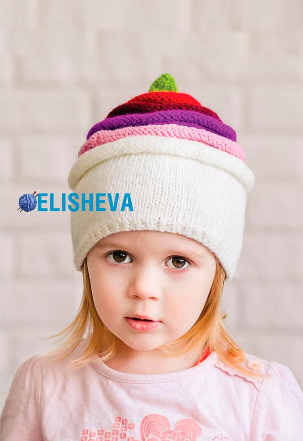 шапочка ушанка для девочек с жгутами спицами схема
