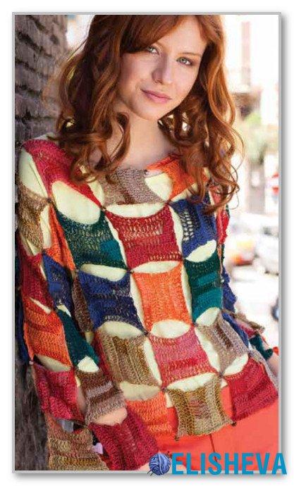 Вязание цветных кофт фото