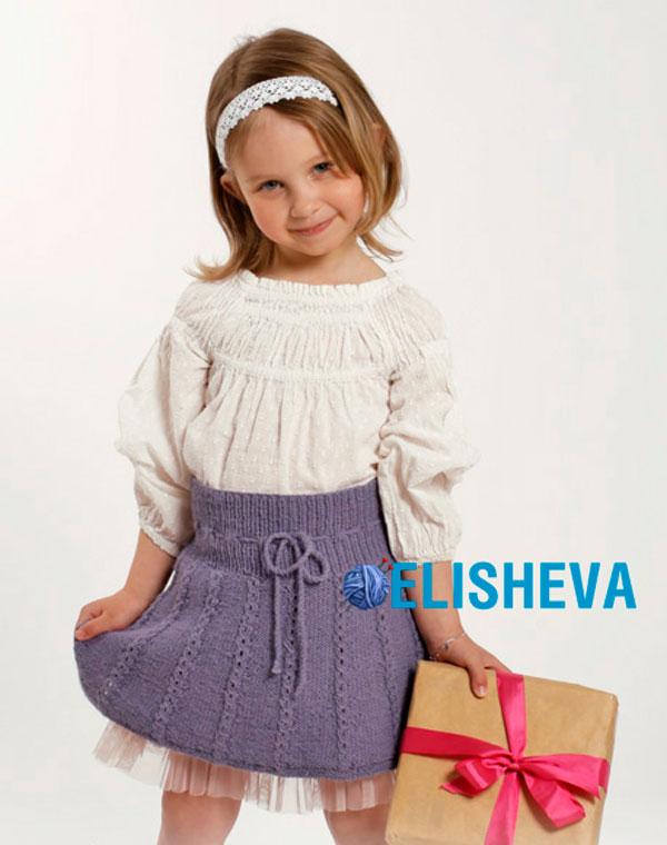 Вязание юбка для девочки 5 лет видео