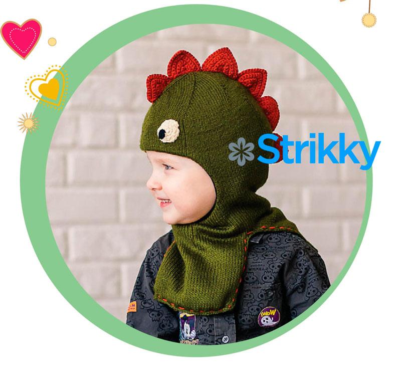 шапочка дракончик для мальчика вязаная спицами и крючком