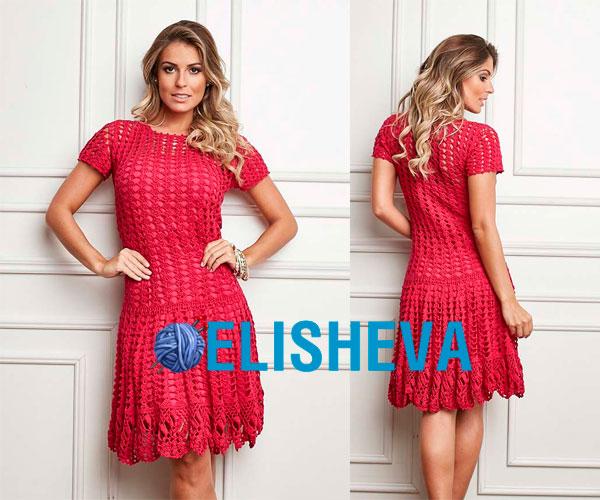38067b45156 Ажурное платье с изумительными узорами