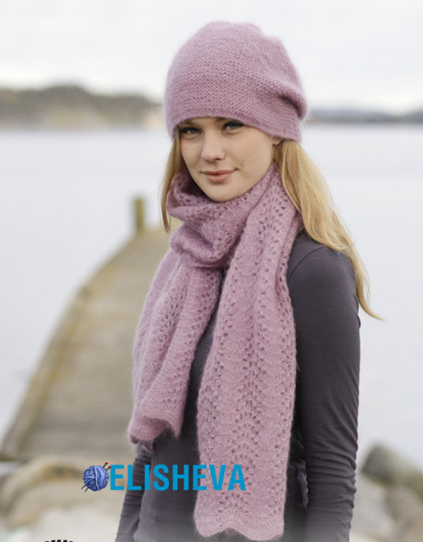 Шапка и шарф из мохера от