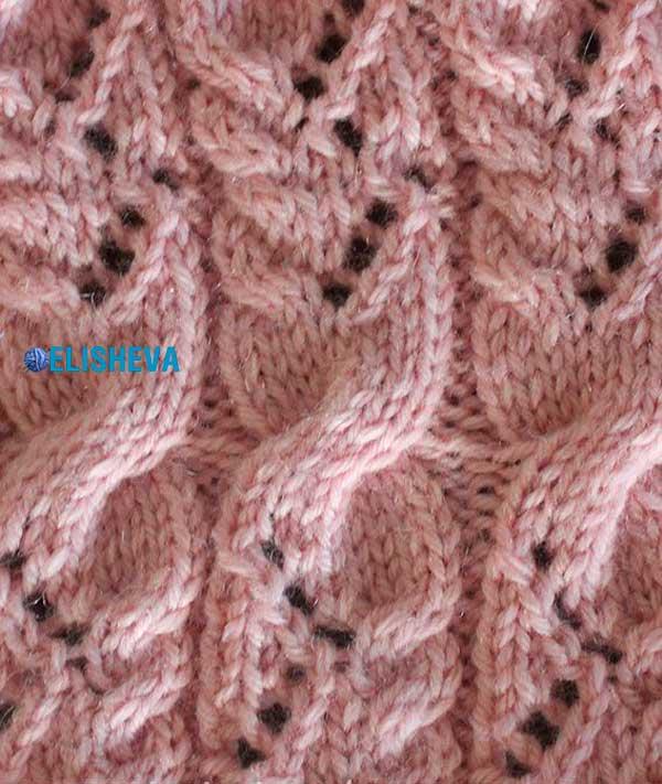 вязание спицами для детей узоры ажурная